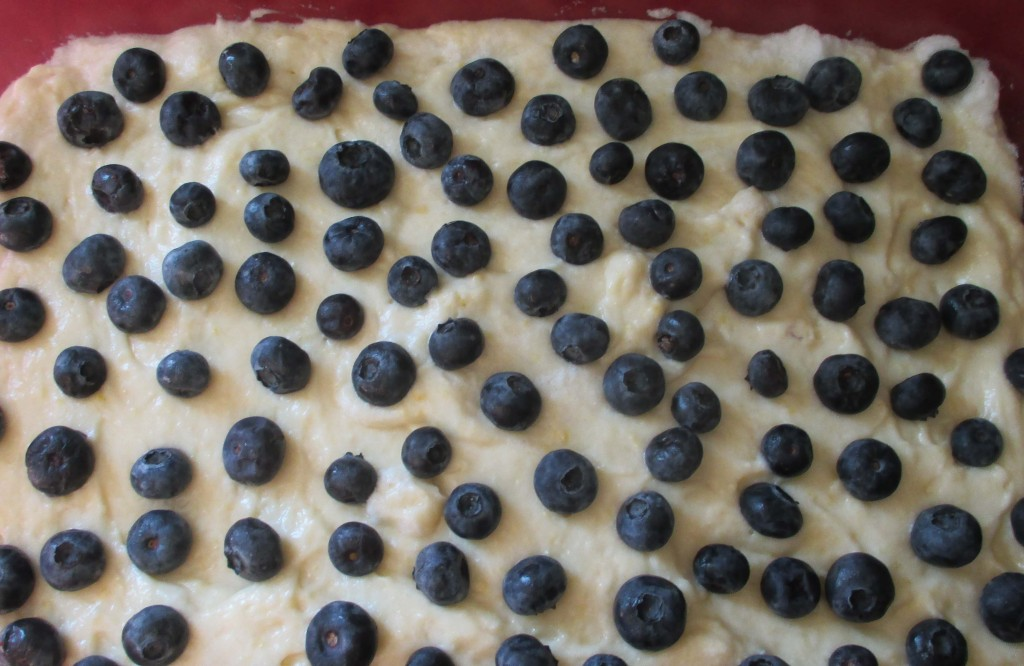 Blueberries on top