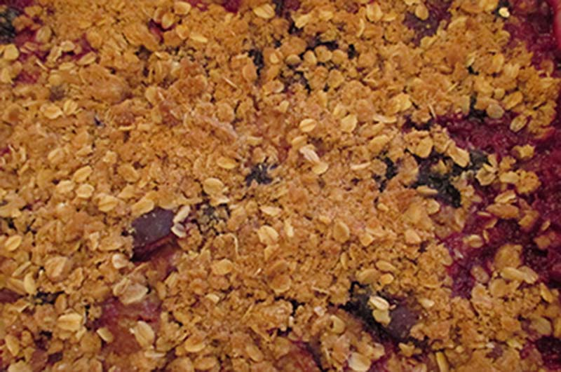 Plum-Blueberry Crisp